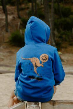 Hoodie bleu roi Max le Kangourou 1