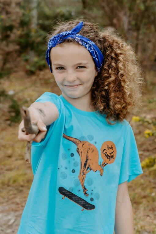 Tee shirt bleu Max le Kangourou1