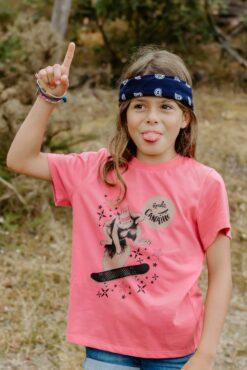 Tee-shirt rose Zoé l'écureuil 1