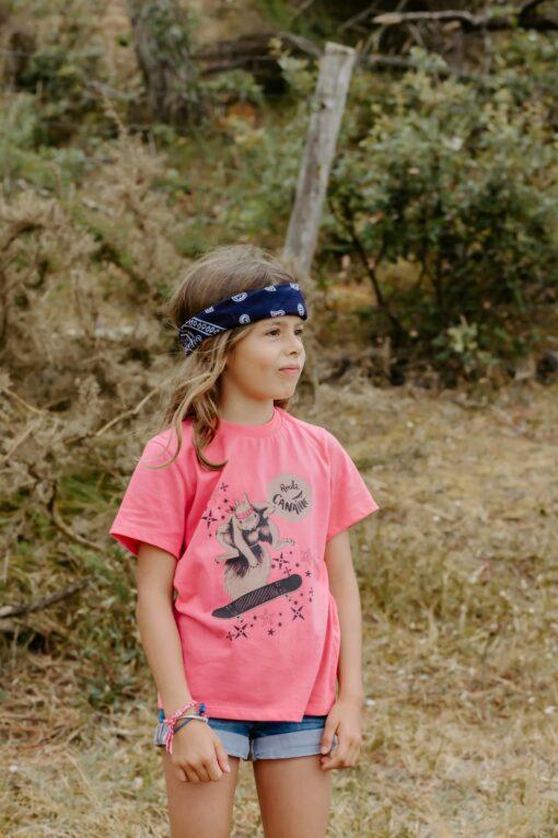 ee-shirt rose Zoé l'écureuil 2