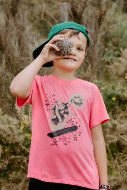 Tee-shirt rose Zoé l'écureuil2
